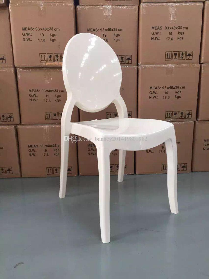 Weißer Plastikstuhl, Sedia da Pranzo, Silla de Comedor, Opernstuhl