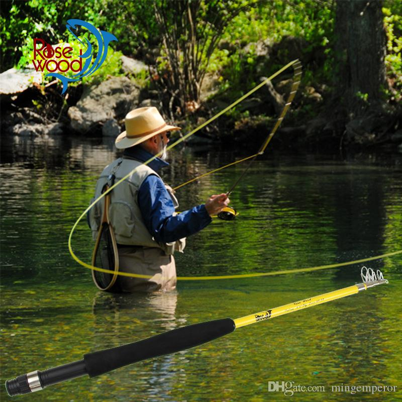 """Nueva caña telescópica portátil de pesca con mosca 6'6 """"# 3 viajero mini caña de pesca con mosca fibra de vidrio 5 SEC diseñada en EE. UU. Hecha en china"""