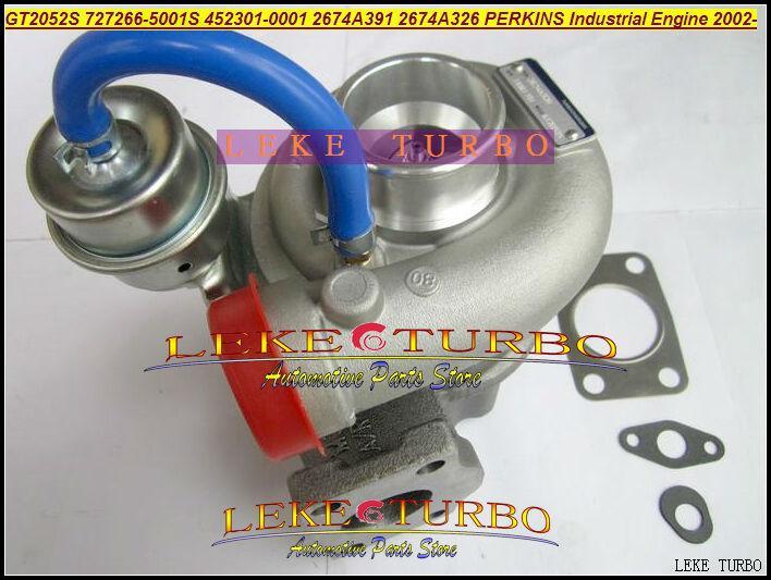GT2052S 727266-5001S 452301-0001 2674A391 2674A326 727266 452301 Turbocompressor Turbo Para Motor Industrial Perkin T4.40 4.0L 02-