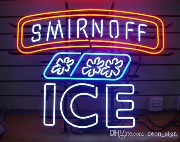 "Hot Smirnoff Ice Neon Sign Beer Handcrafted Real Glass Tube Lighting Motel Disco Bar Store Flashlamp Advertising Display Neon Signs 24""X20"""