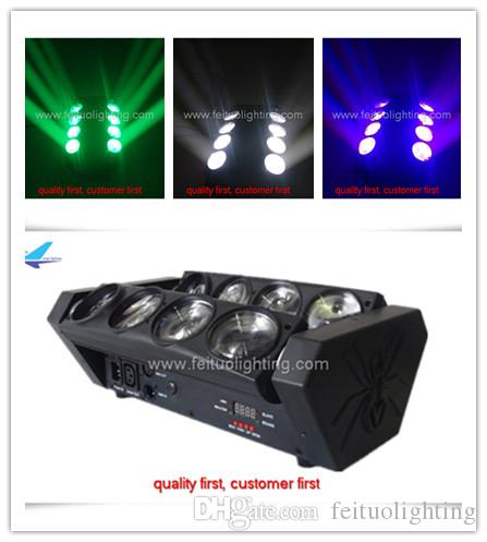 12 / lot professionnel spectacle éclairage araignée led faisceau mobile lumière principale 8x10w rgbw lumière principale mobile faisceau