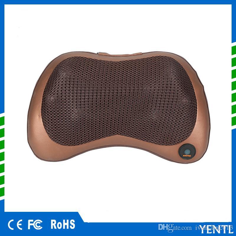 YENTL New Household Car Shiatsu Massage Pillow Device 8 Heads Riscaldamento elettrico Cuscino Collo Full Body Relax Massager uso auto Uso domestico