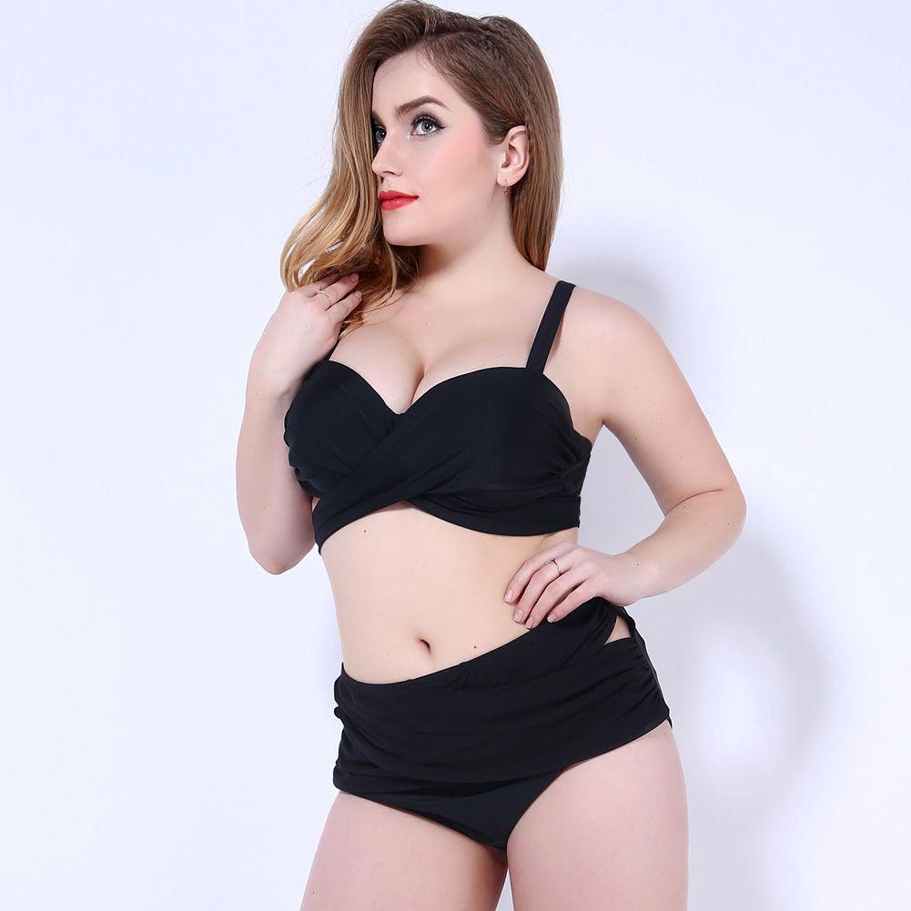 2017 Femmes Maillots De Bain Sexy Plus La Taille Maillot De Bain Fat Wear Plus La Taille Bikini Ensemble Maillot De Bain Push Up Biquini Femmes Grand Coupe Bikini