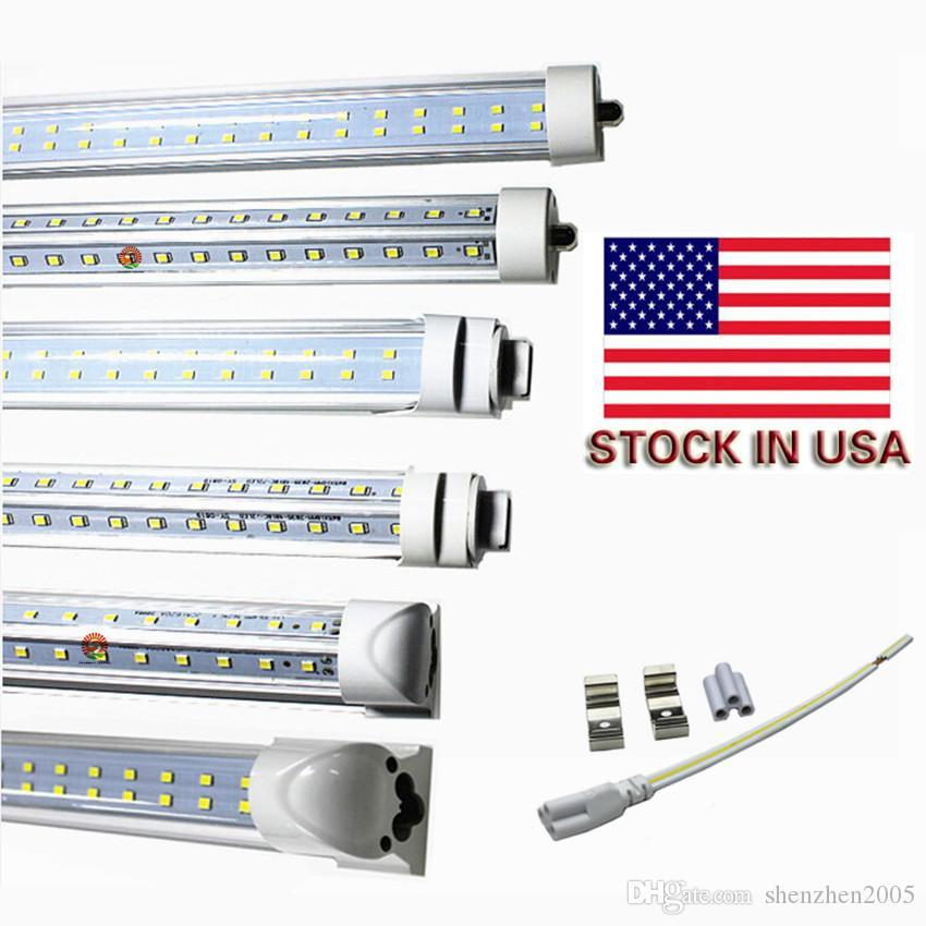 AC85-265V UL DLC를 주도 8피트 FA8 단일 핀 / R17D / 통합 더블 사이드 smd2835 주도 빛 튜브 8피트 72W 주도 튜브 T8