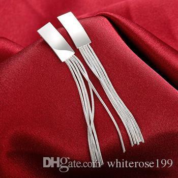 도매 - 최저 가격 크리스마스 선물 925 스털링 실버 패션 귀걸이 E095