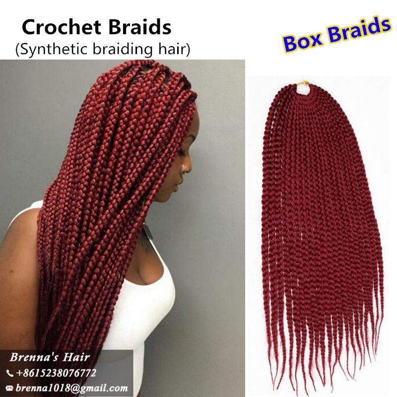 Heißer verkauf 3x bod zöpfe kleine seneglese Twist Crochet Braids Hair 22 '' 120g / pack Crochet Braid Hair