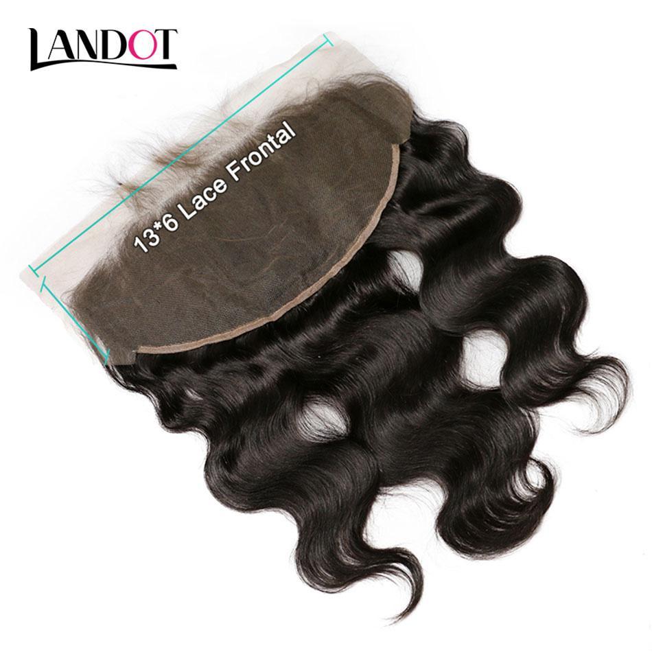 Brazilian Lace Frontals Closure Ear to Ear 13x6in Grade 8A Malaysian Indian Cambodian Peruvian Body Wave Straight Virgin Human Hair Closures