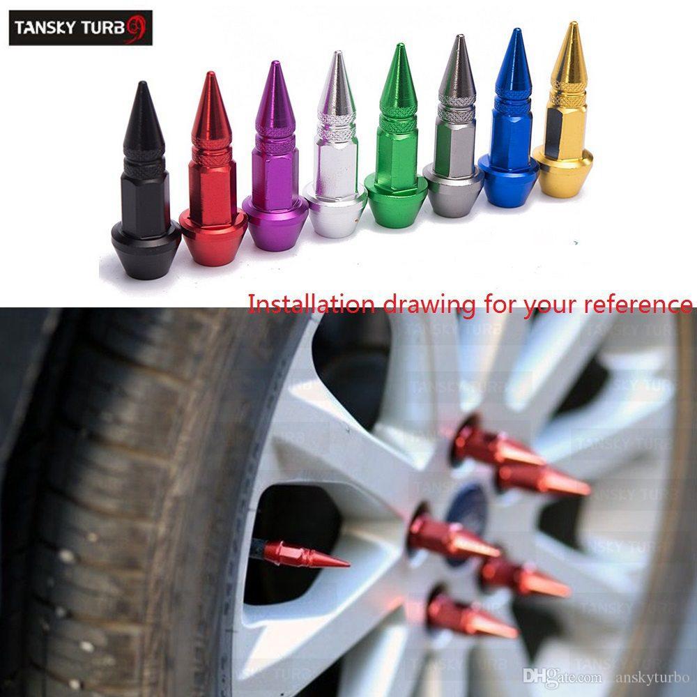 Auto Fahrrad Reifen Ventilkappe Spike Form Ventilkappen
