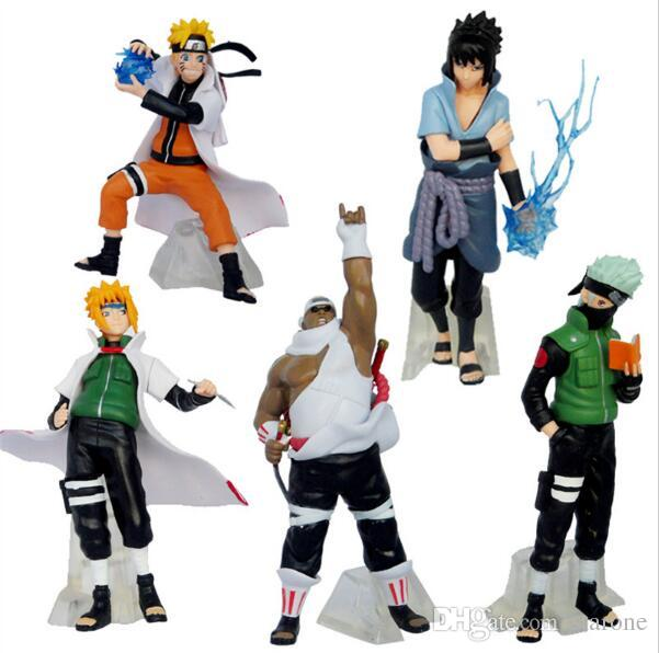 5 Pcs//set Naruto Action Figure Classic Toys Cool Naruto Kakashi Sasuke Uzumaki