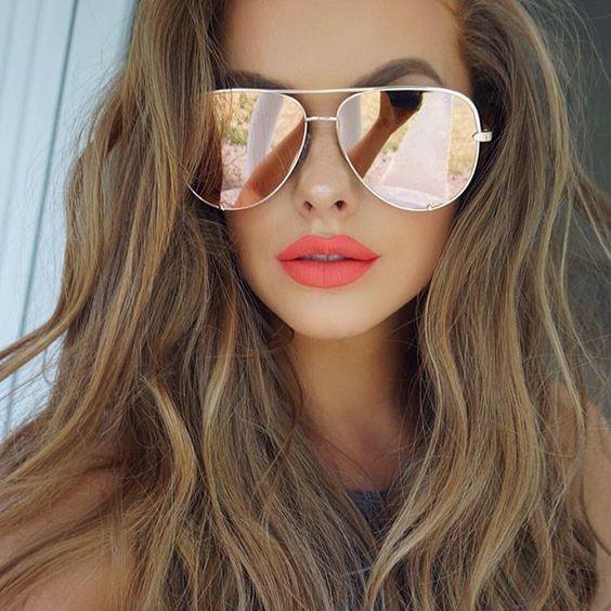 Wholesale- HIGH KEY Sunglasses women mirror shades Australia black silver sunglass gold male sun glasses for driving