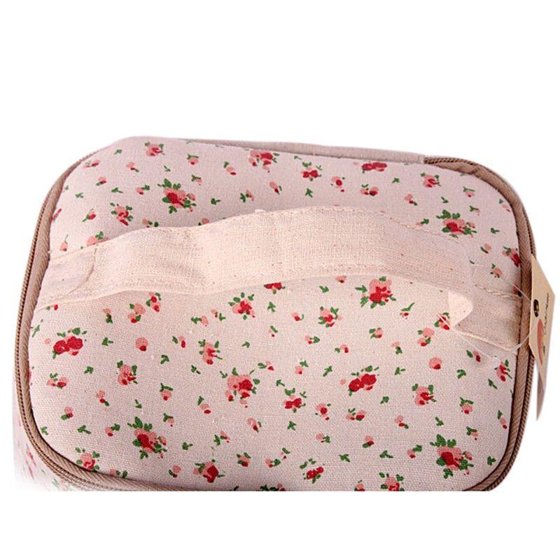 Multifunction Travel Linen Cosmetic Makeup Bag Toiletry Organizer Storage Case LKT077