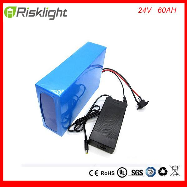 Free customes taxes electric bike battery 24v 60ah battery for e-scooter /24v 60ah li-ion ebike battery pack with 5A charger