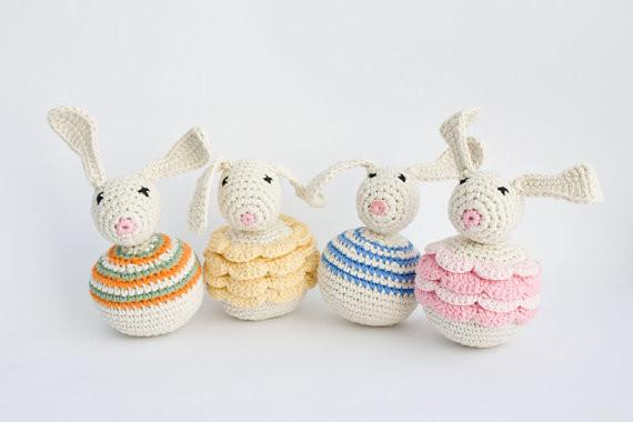 2018 wholesale easter bunny baby rattle organic baby toy crochet 2018 wholesale easter bunny baby rattle organic baby toy crochet bunny sensory toy easter gift from youtong 4504 dhgate negle Choice Image