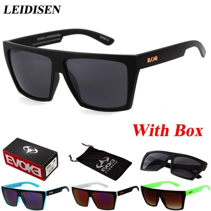 Оптово С коробкой Мода Солнцезащитные очки Мужчины Женщины Vintage солнцезащитные очки UV400 очки Gafas feminino