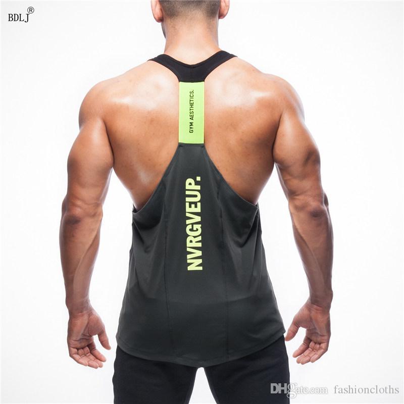 BDLJ мускулатура спортзалы жилет бодибилдинг одежда фитнес мужчины Майка топы спортзалы Майка спортивная одежда трикотажные изделия
