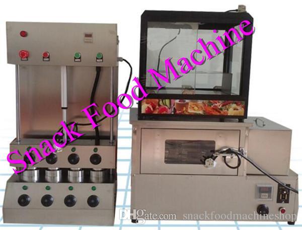 Macchina per pizza in acciaio inox con forno e display, prezzo del forno a cono pizza, macchina per pizza conica
