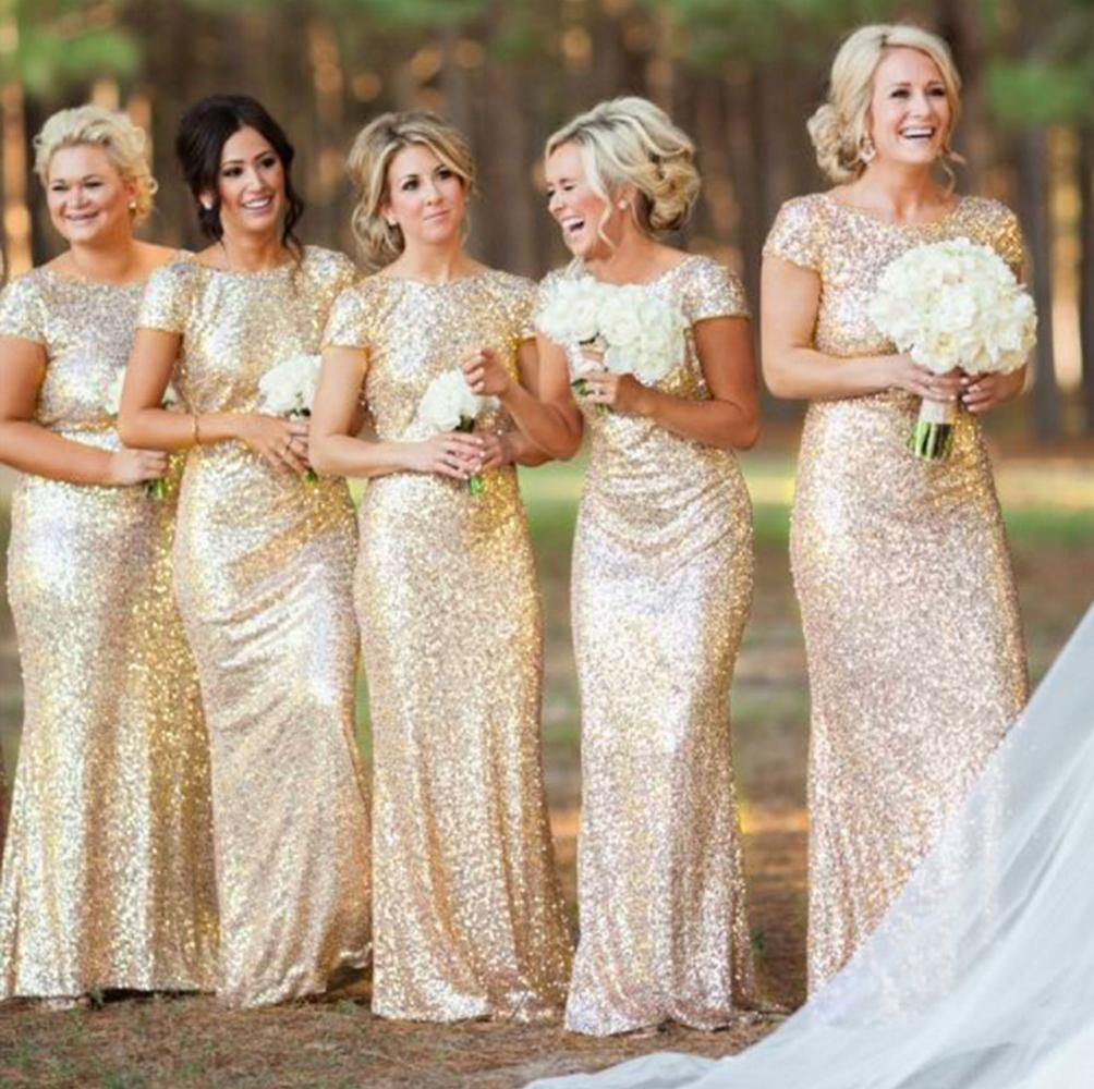 Bridal Dress Mermaid Gold Shimmering