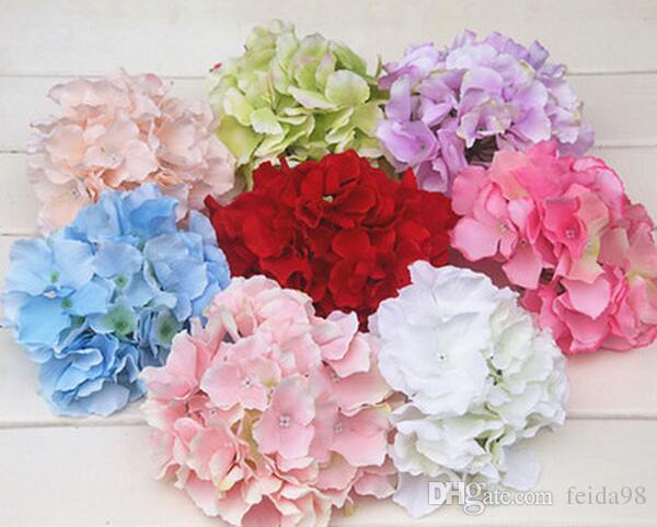 Simülasyon Ortanca Çiçek Kafa DIY Düzenleme Aksesuarları Düğün Kesme Duvar Yeni Yıl Ev Dekoratif Çiçekler G001