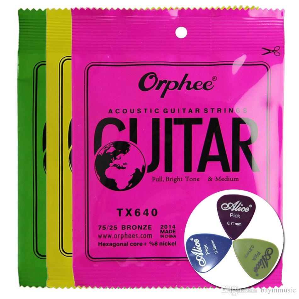 Orphee Acoustic Guitar Strings Accessories (مع 3 اختيارات مجانية من الجيتار)