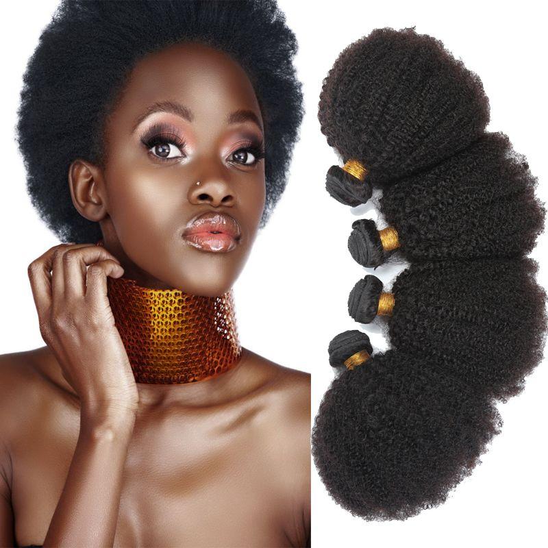 8A Grade 4b 4c Brazilian Virgin Hair Afro Kinky Curly Weave Human Hair 4 Bundles Brazilian Kinky Curly Virgin Hair Free Shipping