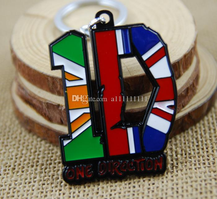 New Arrival Popular Band Key Chain Alloy 1D Pendant Fashion Keychain For Men Women One Direction Keychain Gift 10 pcs/lot Free Shipping