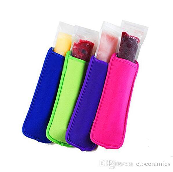 Popsicle Halter Pop Ice Sleeves Gefrierschrank Pop Halter 8x16 cm für Kinder Sommer Küche Cookies 21 farbe Haben Stock