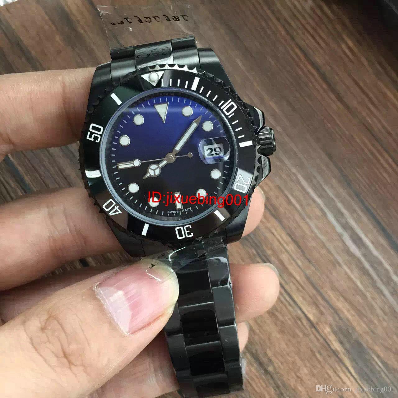 2017 Hot seller de Luxo dos homens SEA-DWELLER Cerâmica Bezel 40mm Stanless Fecho de Aço 116660 Automático de Alta Qualidade Business Casual mens Relógios