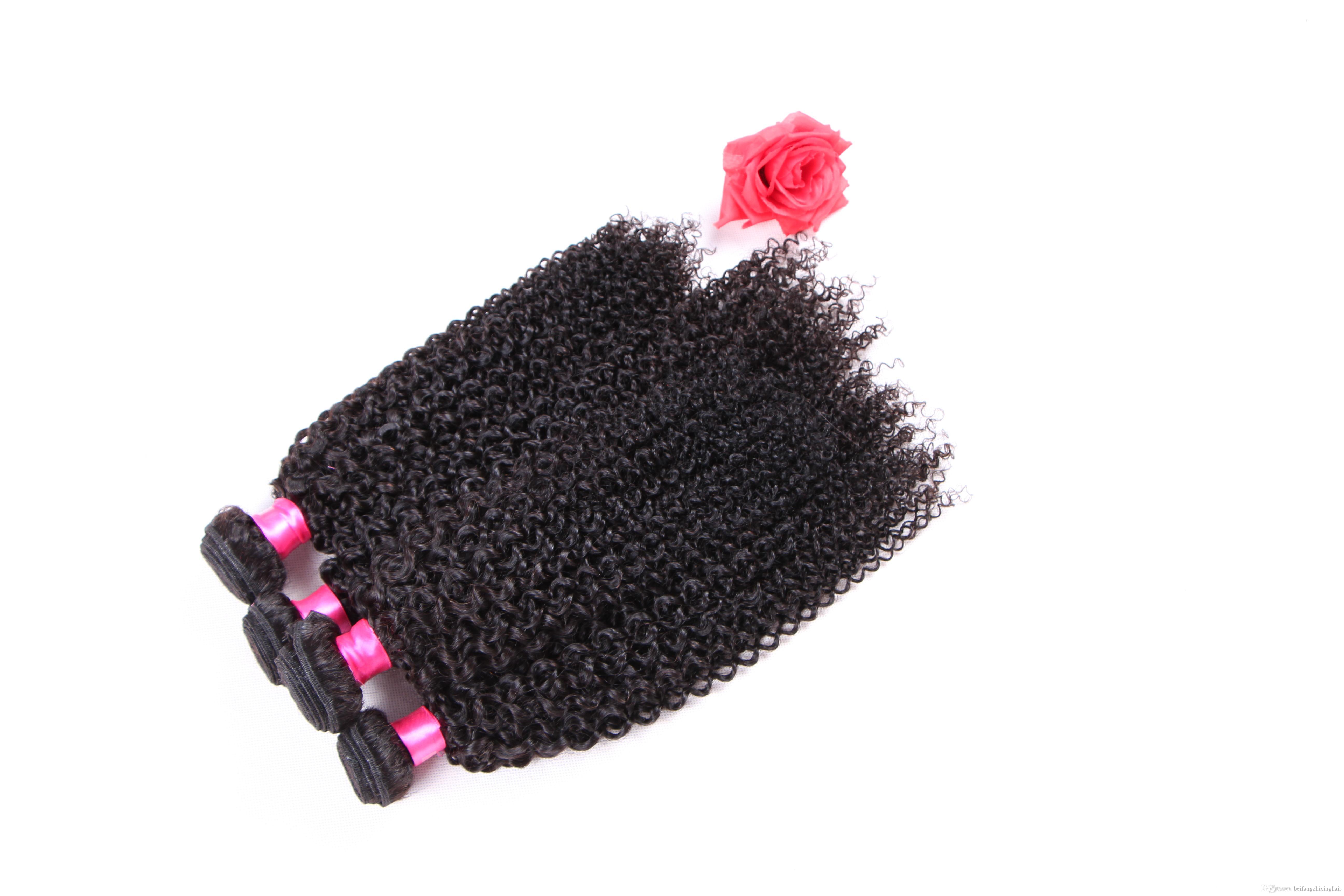 8a grade jerry curl remy Haarwebart 1b # natürliche farbe 100 gr / teile 3 STÜCK / LOT Malaysische Reine Menschenhaarverlängerung Doppel schuss dhl geben Verschiffen