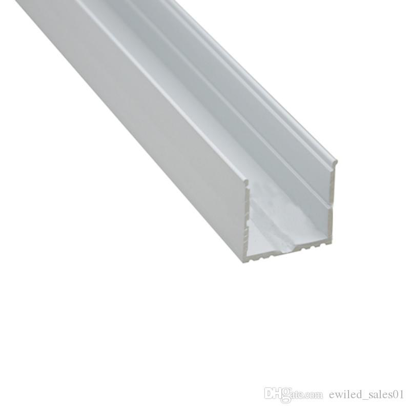 10 X 1M sets/lot Led strip lighting aluminum channel and Al6063 aluminium u profile for ceiling or recessed wall lamps