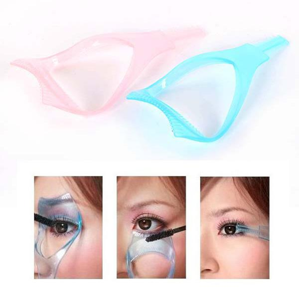 Wholesale-Eyelash Comb Brush Cosmetic Tool Curler Mascara Guard Comb 3 in 1 Tools Women Beauty Health