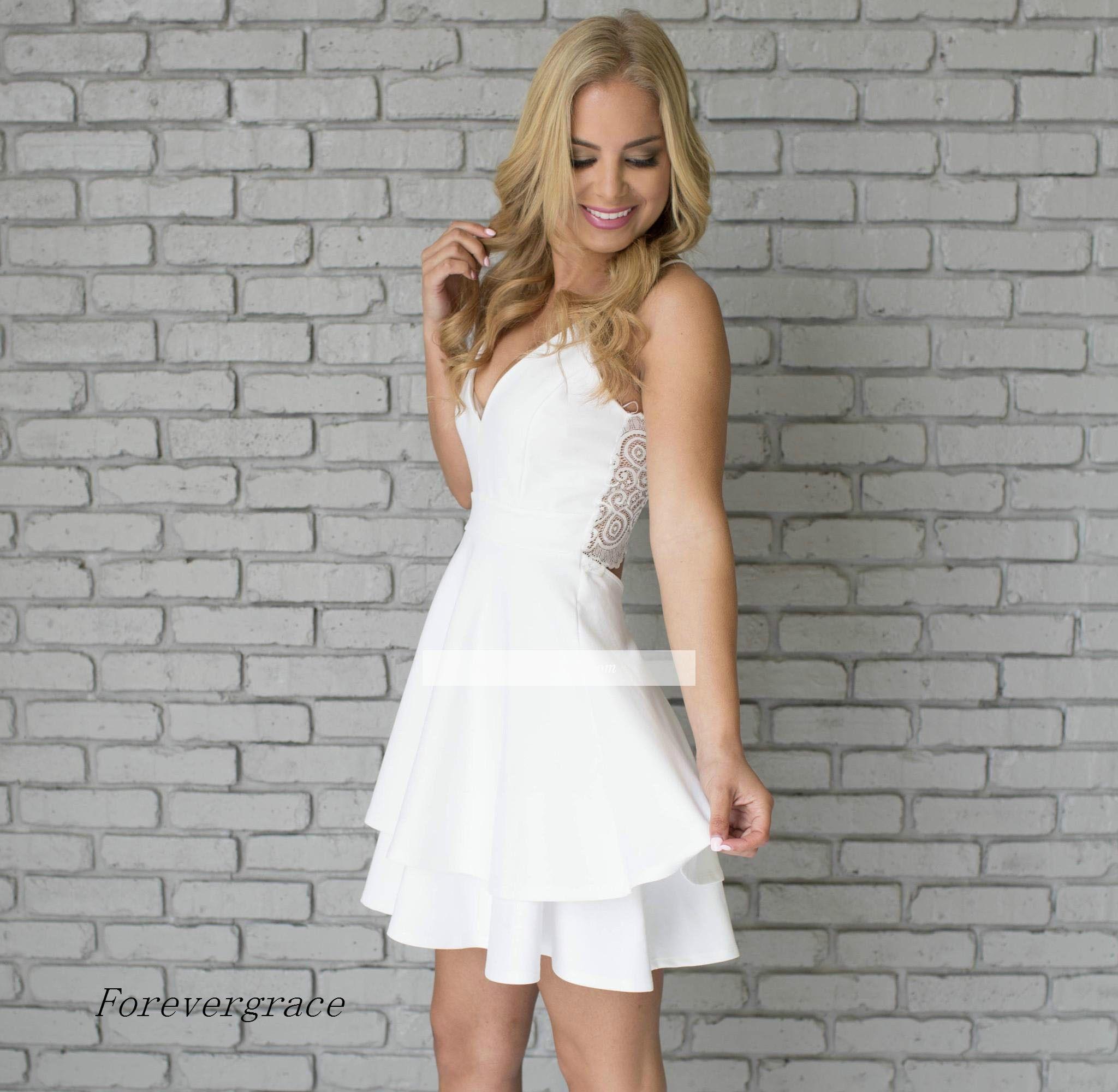 Großhandel 2017 Lace Mini Short Heimkehr Kleid Vintage White ...