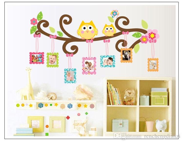 Removable Fabric Stickers Owl Family Wall Stickers Decors