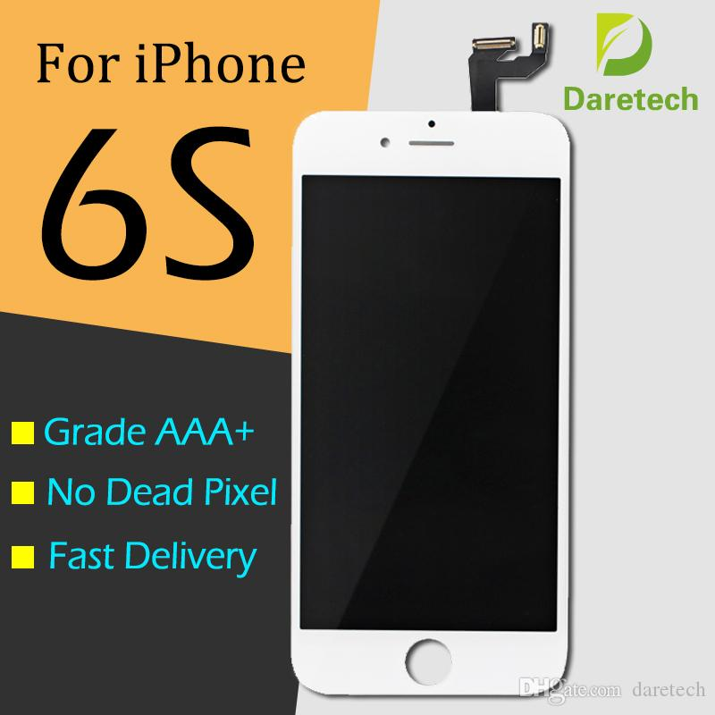 """أفضل نوعية LCD لاستبدال 6S فون 4.7 """"شاشة تعمل باللمس الجمعية التحويل الرقمي قطع الغيار أبيض اللون الأسود DHL الشحن"""