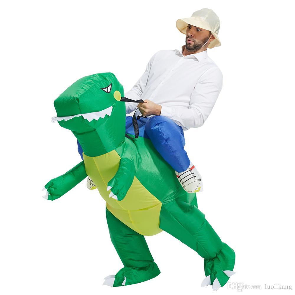 Prix de gros Dinosaure Costume Gonflable Déguisement Costume Imperméable Polyester Halloween Costume avec livraison rapide gratuite