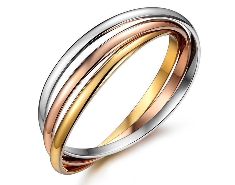 3 Color Pulseiras Gold Color Titanium Steel Bracelets Bangles For Women Pulseras Nail Bracelet Wholesale 2017