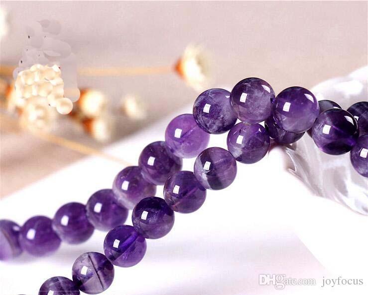 8 мм круглый Natrual фиолетовый Amythest бусины драгоценный камень свободные бусины для браслет DIY ювелирных изделий