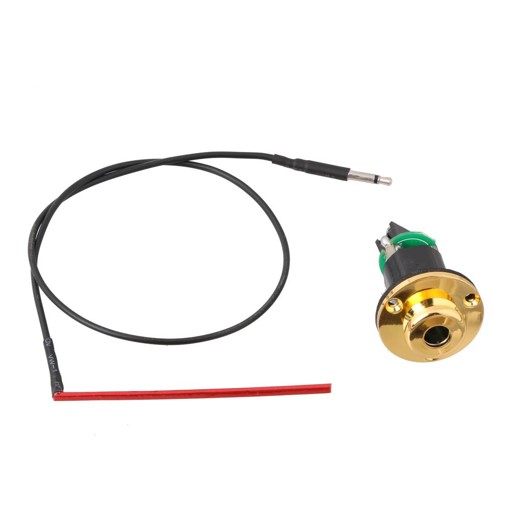 """1/4"""" End Pin Jack Gold w/ Under-Saddle Piezo Pickup For Acoustic Guitar"""