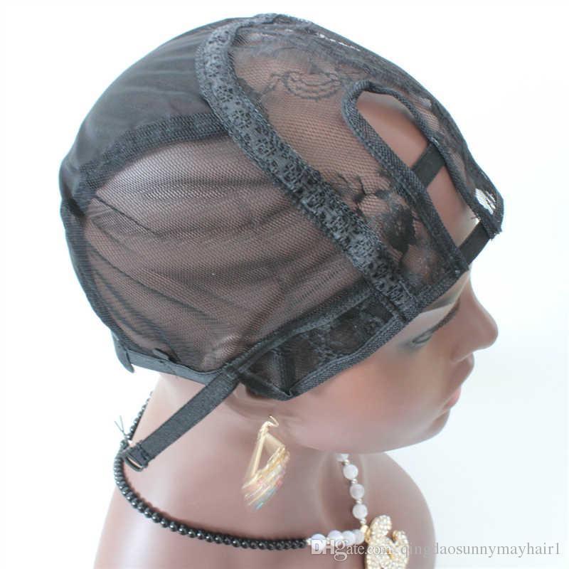 Expédition rapide de la perruque de casquettes 3pc / lot U partie trame faisant des perruques lacet chapeau de tissage bretelles réglables dos usine en gros u casquette de perruque