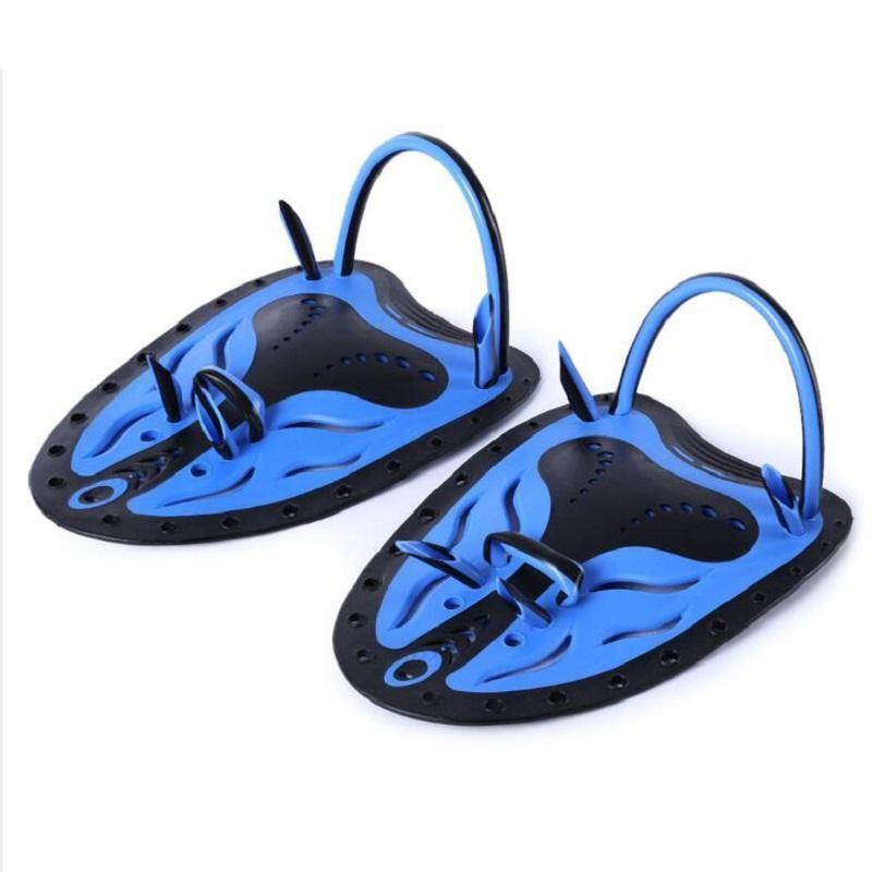 Venta caliente 1 emparejado paletas de natación ajustable aletas piscina de natación buceo guantes de mano de neopreno para hombres mujeres niños envío gratis