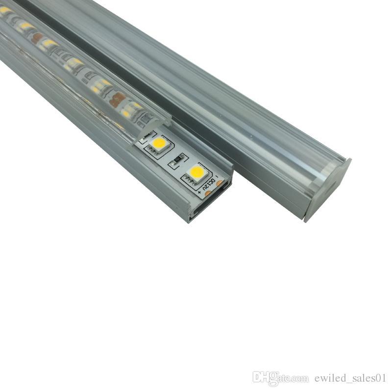 10 X 1M sets/lot U type aluminum profile for led strips and Al6063 T6 led light profile for ceiling or pendant lamps
