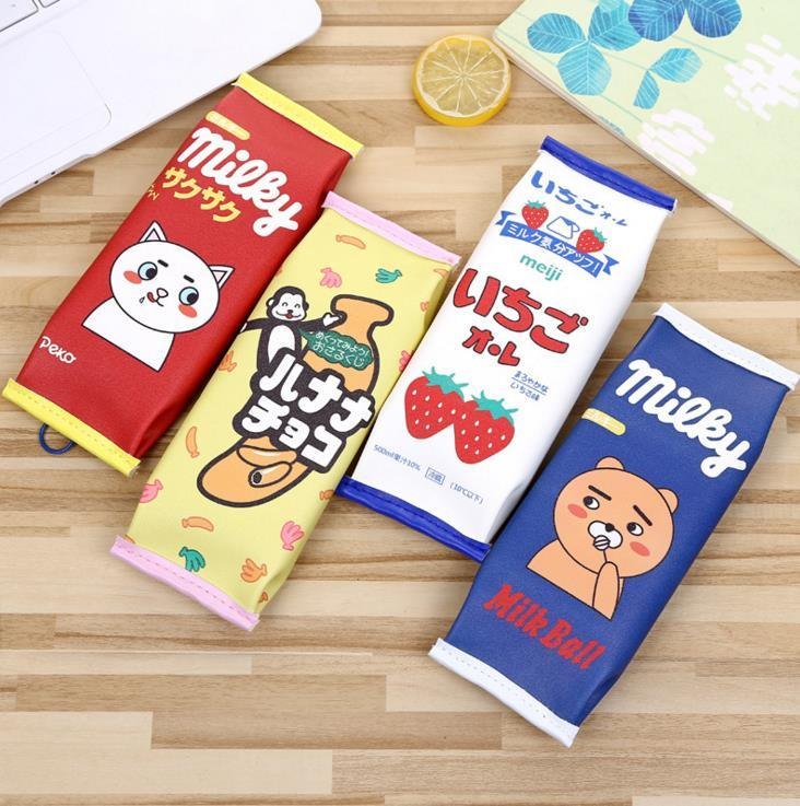 Pu candy to help snip pencils stationery bag creative zakka student supplies wholesale large-capacity snack pencils