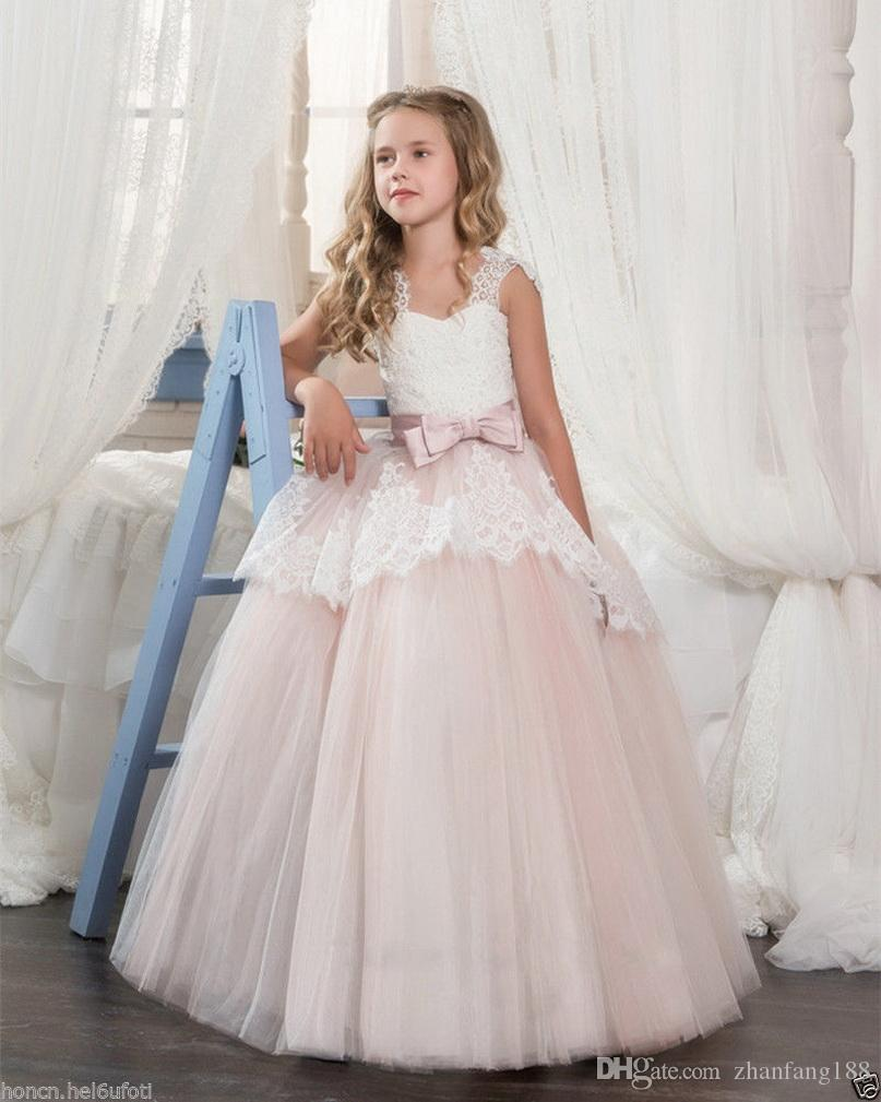 Baby Girl Princess Dress Bridesmaid Pageant Gown Birthday Party Wedding Dress G5
