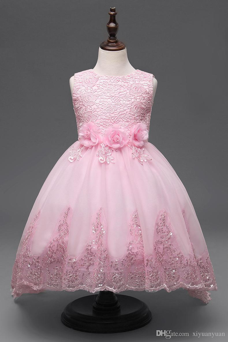 Compre Vestidos Para Niñas Vestido De Fiesta De Boda Para Niña Princesa Vestido De Fiesta Para Niñas Ropa Con Perla Mariposa A 403 Del Xiyuanyuan
