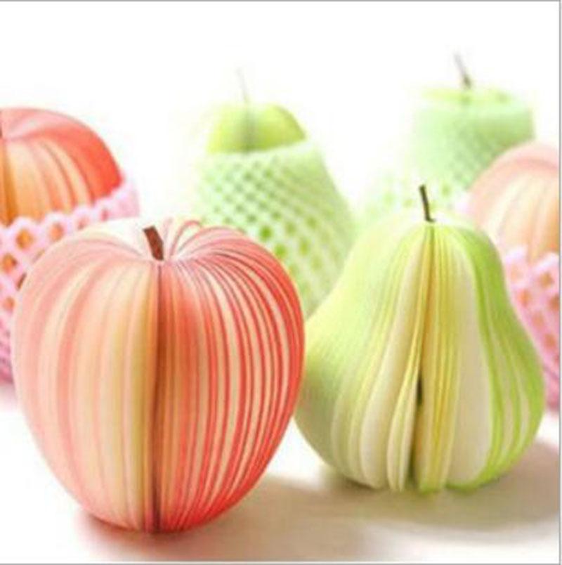 Trendy koreanischen Stil niedlichen Apfel Hinweis Papier Obst Note Memo Pads Portable Scratch Paper Notizblöcke Post klebrige 3D Apple Form Birne Form