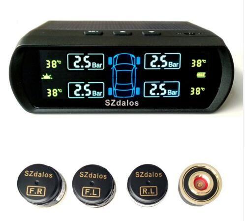 SZDALOS TP400 TPMS 다채로운 태양열 자동 충전 센서 (내부 센서 포함) 무선 범용 타이어 압력 모니터링 시스템