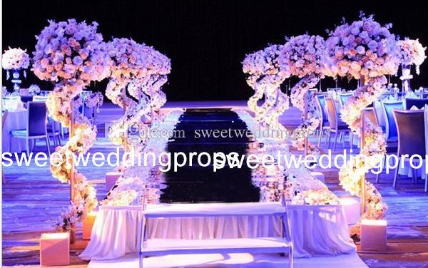 メンタルスタンドのみ)背の高いものと大きなスライバ/ゴールドテーブルの装飾造花の花瓶の造花の配置