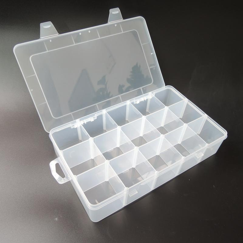 Wholesale-Transparent PP Tool Box Electronic Plastic Parts Toolbox Casket SMD SMT Container Screw Battery Component Storage Case