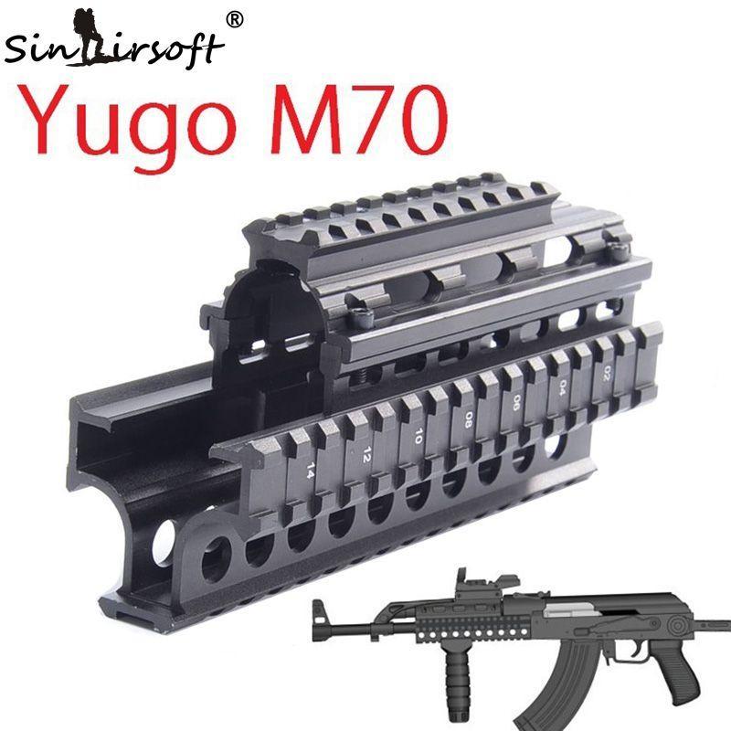 Yugo M70 AK Quad Rail Drop In Handguard Four Picatinny Rails For Laser Dot  Sights Riflescope Mount V Cut Co Witness With Iron Sights MTU011 Hunting