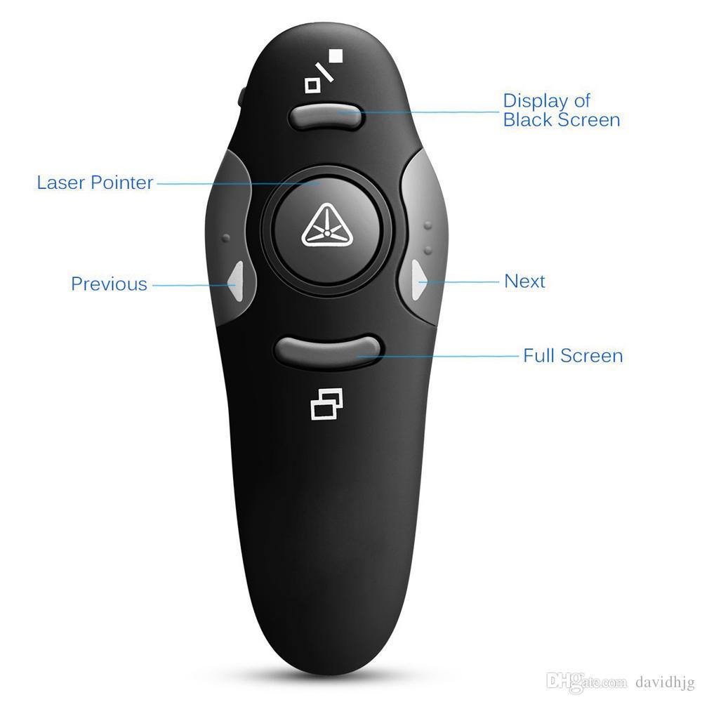 2.4Ghz RF Pointer Pen Wireless USB Power Point Presenter Remote Control Laser Pen Wireless Remote Red Laser Pointer