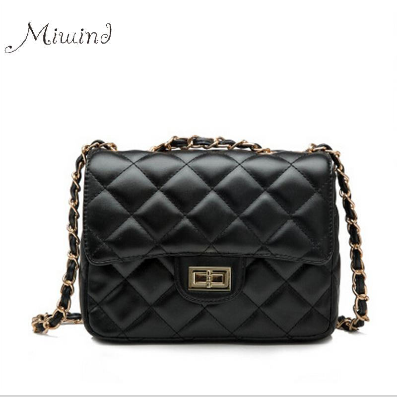 Wholesale- Women Bags Handbags Tote Crossbody Over Shoulder Sling Summer Leather Quilted Chain Lock Small Flap Messenger
